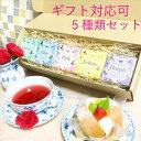 送料無料 紅茶 カラーハーブティー5種類セット カラフル ギフト プレゼント グリーン ブルー ピンク イエロー パープル