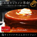 塩キャラメルシフォンケーキふわっと焼き上げたシフォンにたっぷり特製キャラメルソースケーキ キャラメル シフォン ギフト 誕生日