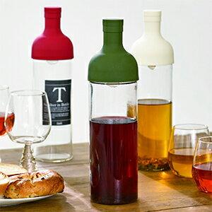フィルターインボトル-水出し茶-ハリオ 水出し茶ボトルカラー:3色よりお選びください 容量:750ml