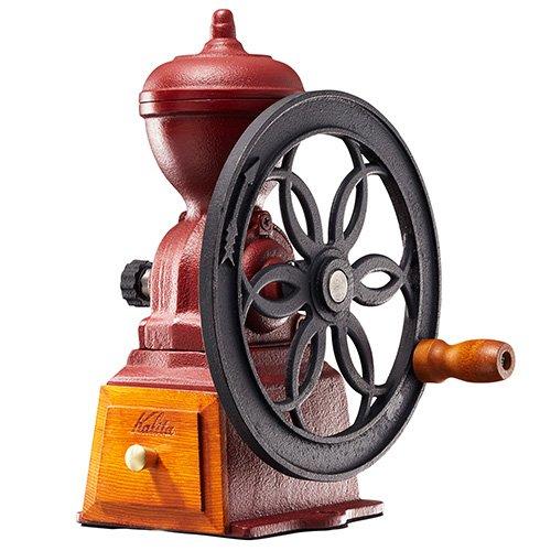 カリタ ダイヤミルN カラー:レッド手挽きコーヒーミル手動式 ミル 送料無料 鋳鉄製 アンティーク調