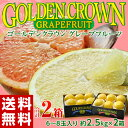 ≪送料無料≫フロリダ産 ゴールデンクラウングレープフルーツ  6〜8玉(約2.5kg)×2箱 frt ☆