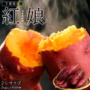 《送料無料》新品種さつまいも『紅娘(べにむすめ)』 千葉県産 2Lサイズ 2kg以上 4