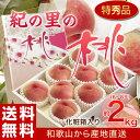 ≪送料無料≫和歌山県産 「紀の里の桃」 最上級 特秀品 約2kg(6〜8玉) ※産地直送