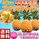 《送料無料》沖縄県産 スナックパイン 3玉 (1玉約600g以上)合計1.8kg frt○