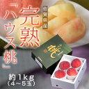 佐賀県産 JAからつの 完熟ハウス桃 約1kg  4〜5玉 frt ☆