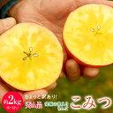 りんご こみつ 青森県産 ちょっと訳あり こみつりんご 6〜12玉 約2kg 秀A品 色ムラ・