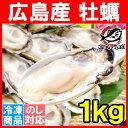 広島産 カキ 牡蠣 1kg 大粒 牡蠣むき身 Lサイズ 殻剥...