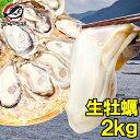 送料無料 生牡蠣 2kg 生食用カキ 冷凍時1kg解凍後85
