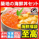 ギフト【送料無料 海鮮福袋】築地の海鮮丼セット 至高 約2〜...