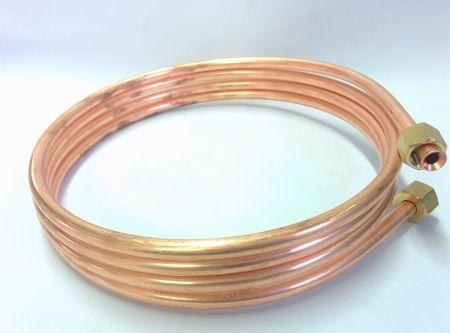 灯油タンク用送油管2.5m 袋ナット径1/4B(インチ)