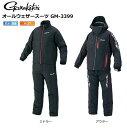 (売り切りセール) がまかつ 防寒着 オールウェザースーツ GM-3399 ブラック×レッド/Lサイズ