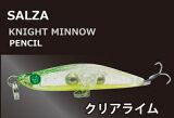 SALZA ナイトミノー ペンシル シンキング KM-50L (クリアライム) / SALE10