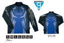 がまかつ 2WAYプリントジップシャツ (長袖) GM-3616 ブルー 3Lサイズ / ウェア (お取り寄せ商品) 【送料無料】 (セール対象商品)