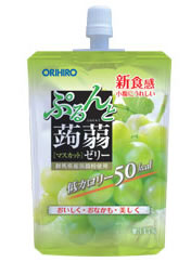 オリヒロ ぷるんと蒟蒻ゼリー マスカット 50kcal (130g) ツルハドラッグ