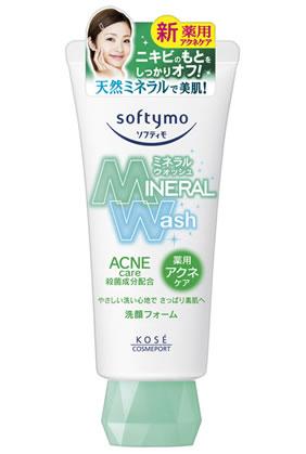 ソフティモ ミネラルウォッシュ 薬用アクネケア 洗顔フォーム