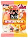オリヒロ ぷるんと蒟蒻ゼリー パウチ ピーチ+マンゴー (20g×12個入) ツルハドラッグ