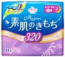大王製紙 エリス Megami メガミ 素肌のきもち 特に多い夜用 320 羽つき 32cm (11枚) 生理用ナプキン 【医薬部外品】