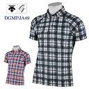 《あす楽》【マークダウン】デサントゴルフ 半袖ボタンダウンポロシャツ DGMRJA49