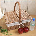 [1,000 points of basket same day shipment] is h37) to 38*30* picnic basket corner type canvas tension h17( handle