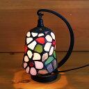 ステンドグラスランプ 小型吊り型1アーム ピンキィマーガレット 12×h16.5 【照明・スタンド】
