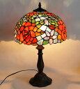 お部屋に温もりのある灯りをステンドグラスランプで♪