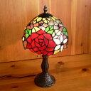 ステンドグラスランプ 薔薇の花 (バレリーナ) 中型 20×h38 【照明・スタンド】
