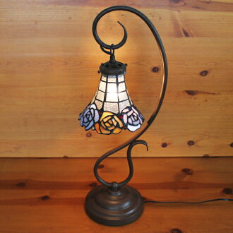 Stained glass lamp stained lamp hanging-arm 3 colors of Roses (moon rose) 22 x h57