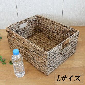 Hyacinth storage box L size [natural] 43 × 33 × h19