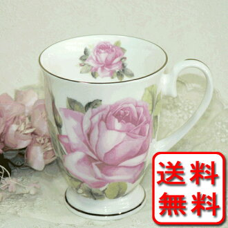 Bone china sconce cup to decorate with a slightly pink rose