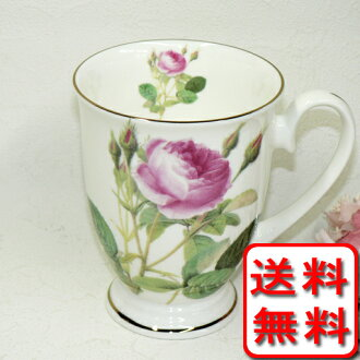 Sconce cup to decorate with a bone china bud (bud) and a rose