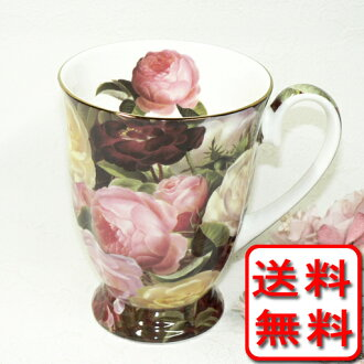 Garden mug cup of the bone china rose