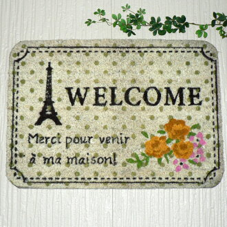 "Paris Eiffel Tower ""Welcome"" of safeguard carp yeah mat spring belonging to"