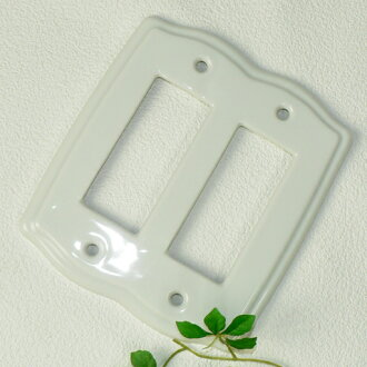 Natural taste [White] plain switch plate switch cover 6 hole