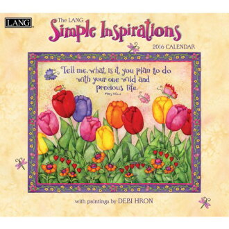 In 2016, LANG (lang) simple calendar inspiration (Simple Inspirations)