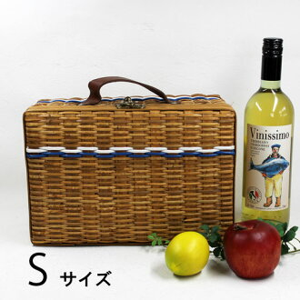 WAIWAI outing trunk type basket S size 30 × 13 × h20