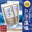 【送料無料】手作りの天然塩 対馬のきれいな海水で作った藻塩 170g×2袋 冷凍商品や