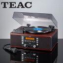 TEAC ティアック社製ターンテーブル&カセット付きCDレコーダー LP-R550USB(ブラウン ウッド調)/CDコピーができるマルチプレーヤー/マルチメディア プレーヤー/CDプレーヤー 楽天/cdコピー機能搭載マルチプレーヤー
