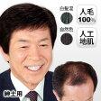 男性用かつら/紳士用 高級人毛ヘアウィッグ/メンズ全かつら/フルウィッグ/