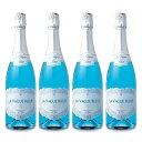 《送料無料》ラ・ヴァーグ・ブルー スパークリング 750ml × 4個 NV エルヴェ・ケルラン [発泡酒 辛口]《あす楽》