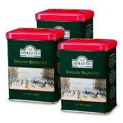 富永貿易 AHMAD TEA イングリッシュブレックファースト リーフティー200g × 3個 缶《あす楽》