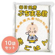 西田精麦 毎日健康ぷちまる君 1kg × 10袋 【ぷちまる 国産大麦 大麦 押麦 穀物 低カロリー ダイエットに】《送料無料》