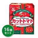 《送料無料》 朝日 イタリア産 紙パック カットトマト 390g × 16個セット 【トマト カ
