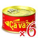 サヴァ缶 国産サバのパプリカチリソース味 170g × 6缶...