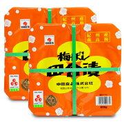 《送料無料》 中田食品 紀州梅ぼし 田舎漬 800g × 2個《あす楽》