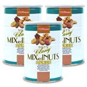 《送料無料》東洋ナッツ食品 トンTON'S 食塩無添加 クラッシー ミックスナッツ缶 360g × 3個《あす楽》