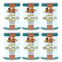 《送料無料》東洋ナッツ食品 トンTON'S 食塩無添加 クラッシー ミックスナッツ缶 360g × 6個《あす楽》