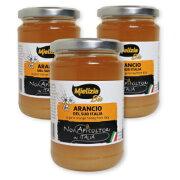 ミエリツィア イタリア産オレンジの有機ハチミツ 400g ×3個 《あす楽》