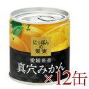 《送料無料》 にっぽんの果実 愛媛県産 真穴みかん 190g ×12缶 [K&K]【国産 まあなみかん】《あす楽》