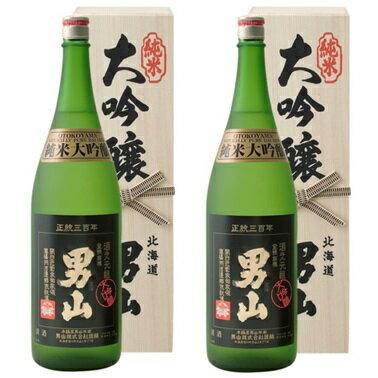《送料無料》男山純米大吟醸(化粧箱入り)18L×2本[清酒男山北海道]お酒日本酒おとこやまやや辛口《
