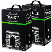 《送料無料》 ボー・ド・フランス ヴァン・ド・フランス 白 2.25L × 2個(バッグインボックス)【白ワイン 辛口】《あす楽》